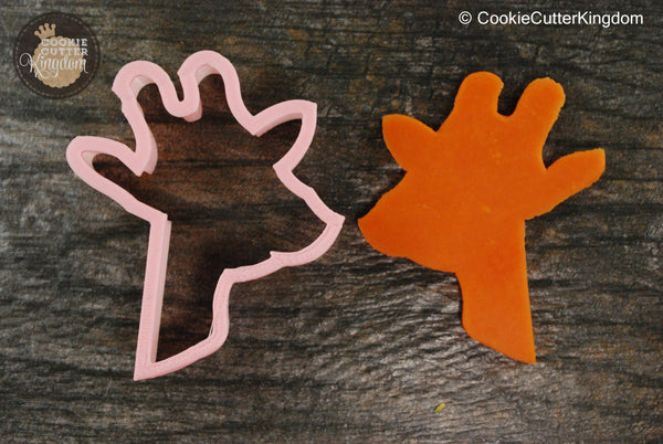 Giraffe Head Animal Cookie Cutter