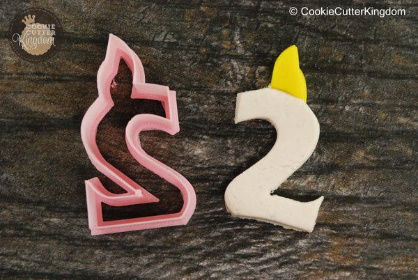 Birthday Candle Number 2 Cookie Cutter