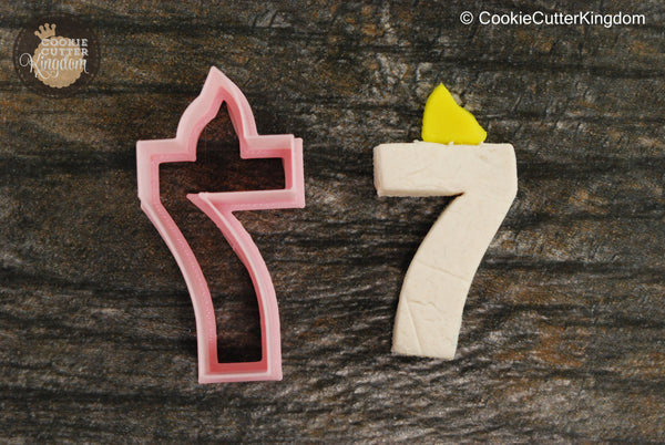 Birthday Candle Number 7 Cookie Cutter