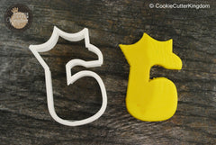 Princess Crown Number 6 Cookie Cutter