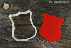 Fire Badge Cookie Cutter