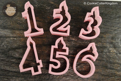 Full Set, Birthday Candle Numbers Cookie Cutters