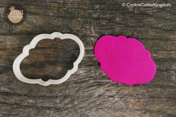 The Cloud Plaque Cookie Cutter