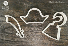 3 Piece Pirates Cookie Cutter Set