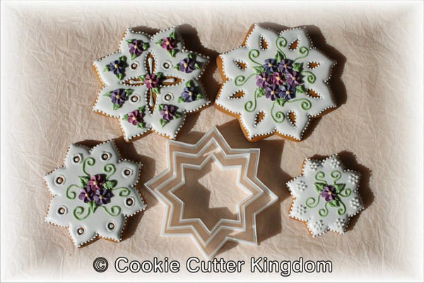 8 point star cookie cutter.