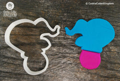 Elephant on Ball Cookie Cutter