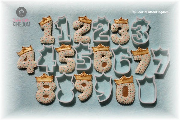 Full Set Princess Crown Number Cookie Cutters