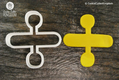 Division Symbol Cookie Cutter