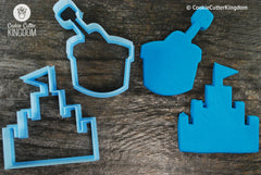 2 Piece Sand Castle Cookie Cutter Set