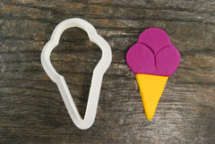 Triple Ice Cream Cone Cookie Cutter