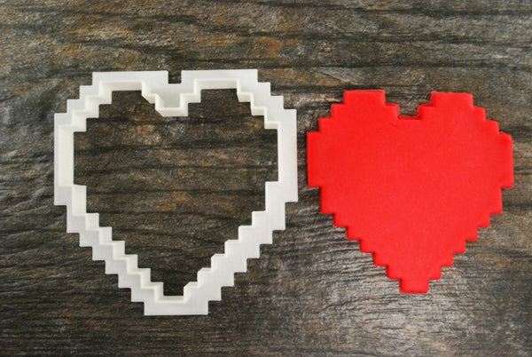 8 Bit Heart Cookie Cutter