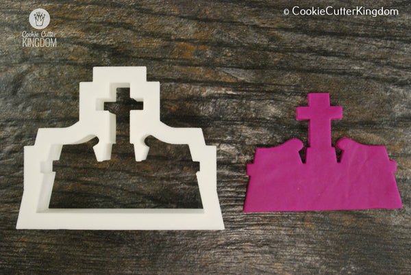 Large Tombstone Cookie Cutter, Graveyard
