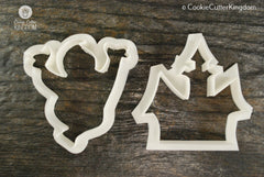 2 Piece Haunted House Cookie Cutter Set
