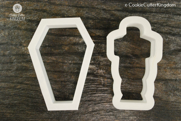 2 Piece Mummy Cookie Cutter Set