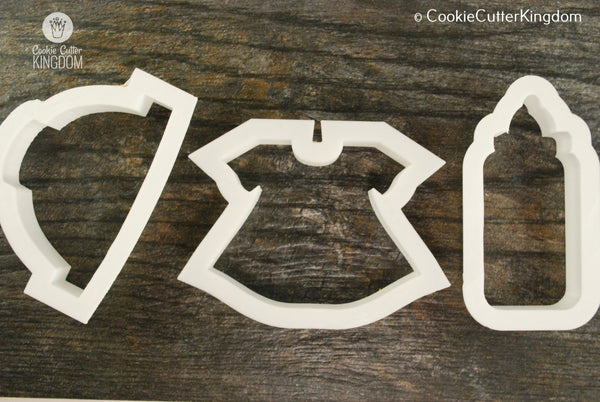 3 Piece Baby Shower Cookie Cutter Set