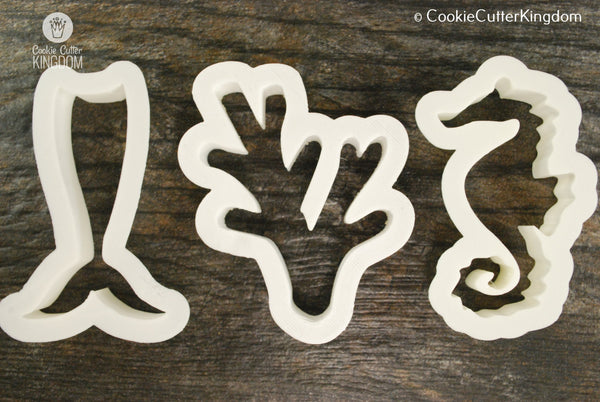 3 Piece Under the Sea Cookie Cutter Set