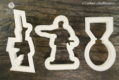 3 Piece Army Cookie Cutter Set
