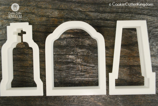 3 Piece Tombstone Cookie Cutter Set