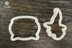 2 Piece Witch Cookie Cutter Set