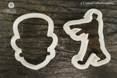 2 Piece Zombie Cookie Cutter Set
