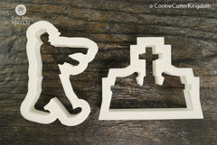 2 Piece Graveyard Cookie Cutter Set
