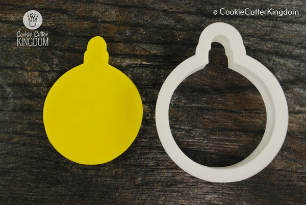 Round Christmas Ornament Cookie Cutter