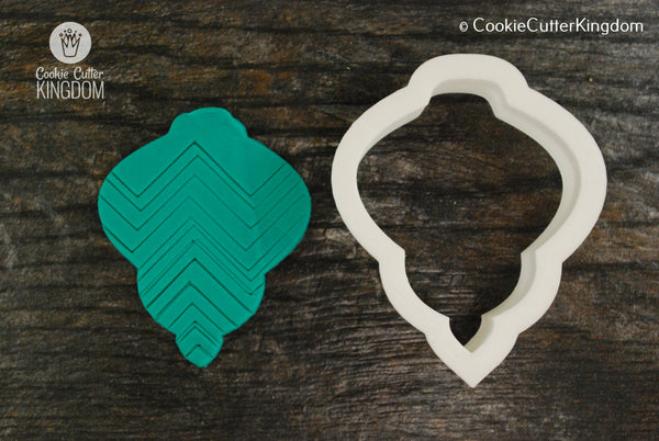 Long Christmas Ornament Cookie Cutter