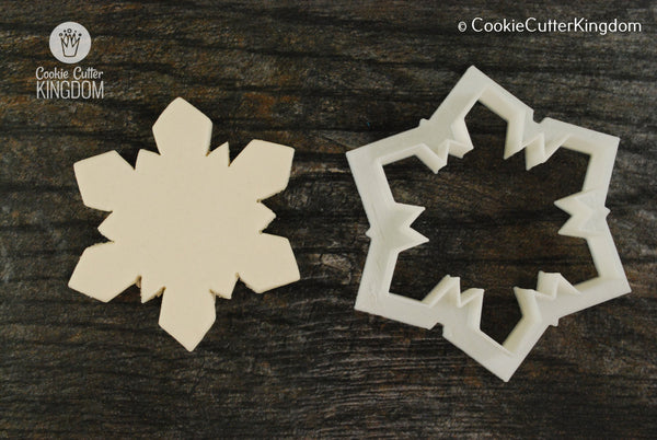 Blocky Snowflake Cookie Cutter