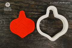 Christmas Ornament 2 Cookie Cutter
