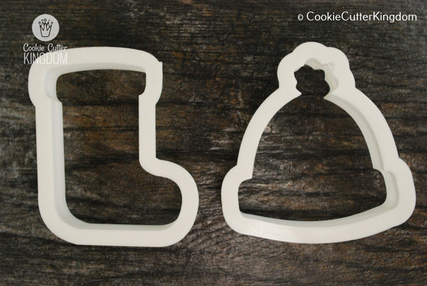 2 Piece Christmas Clothing Cookie Cutter Set