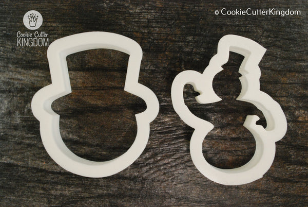 2 Piece Snowman Cookie Cutter Set