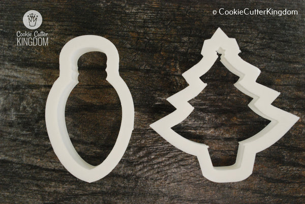 2 Piece Christmas Tree Cookie Cutter Set