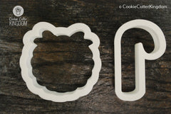 2 Piece Christmas Wreath Cookie Cutter Set
