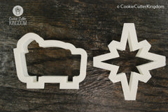 2 Piece Baby Jesus Cookie Cutter Set