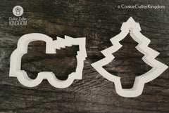 2 Piece Christmas Tree Picking Cookie Cutter Set