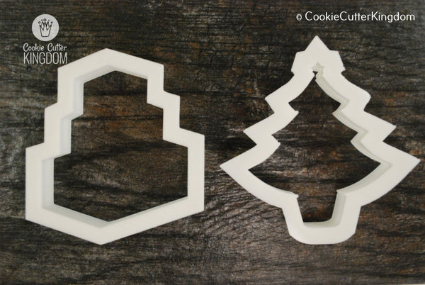2 Piece Christmas Presents Cookie Cutter Set