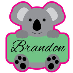 Koala Holding Name Cookie Cutter