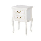 Antique White French Bedside Table Living Room French Provincial