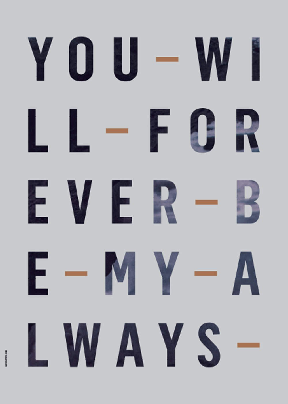 Forever Always - Powder Blue fra I Love My Type