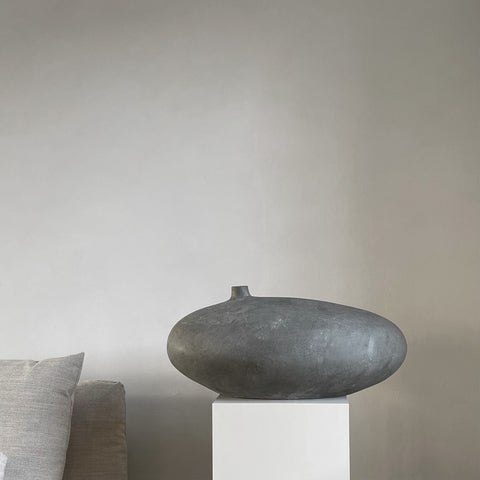 Submarine Vase, Fat, Dark grey fra 101 Copenhagen