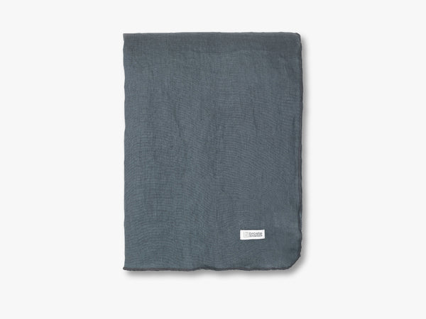 Gracie Eco Friendly Hør , Petrol Blue, W160XL200CM fra Broste Copenhagen