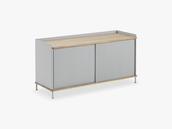 Enfold Sideboard / Low, Oak/Grey fra Muuto