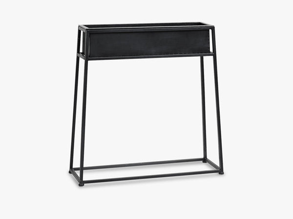 Iron planter on stand, black fra Nordal