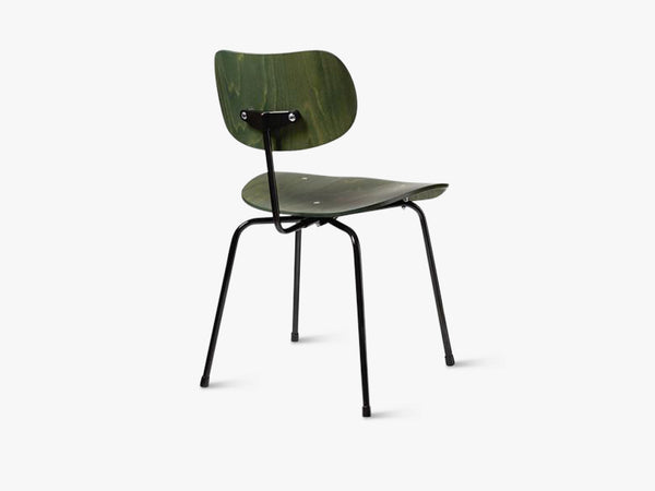 SE68, Green seat and back with Black base fra Egon Eiermann