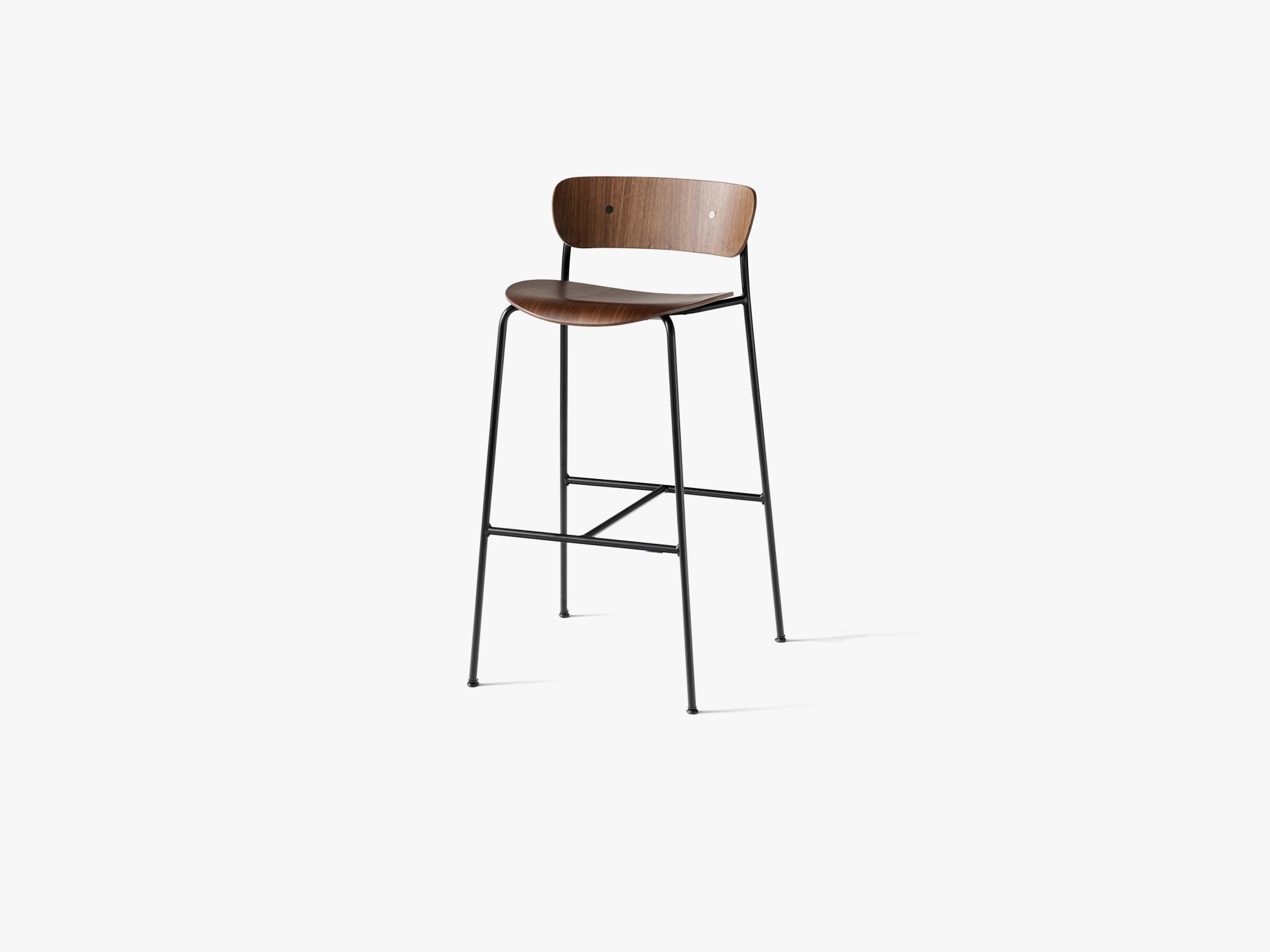 Pavilion Bar Stool AV9, Walnut fra &tradition