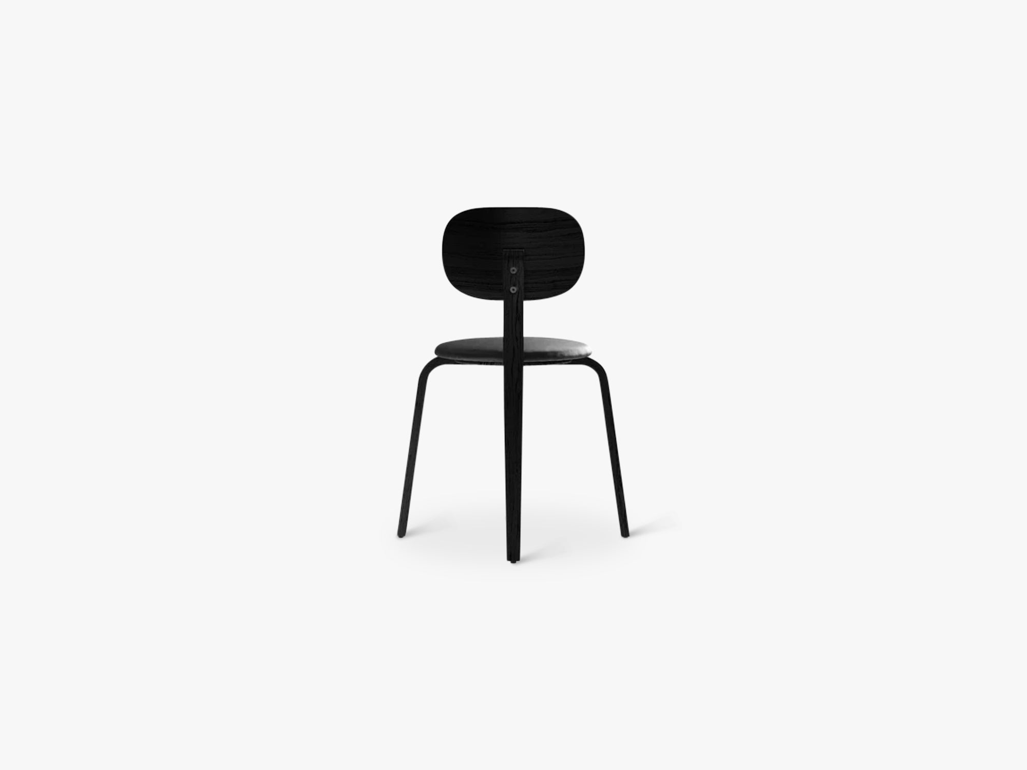 Afteroom Plywood Chair, Black Ash/Black Ash/Dakar 0842 fra Menu
