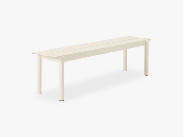 Linear Steel Bench - 170, White fra Muuto
