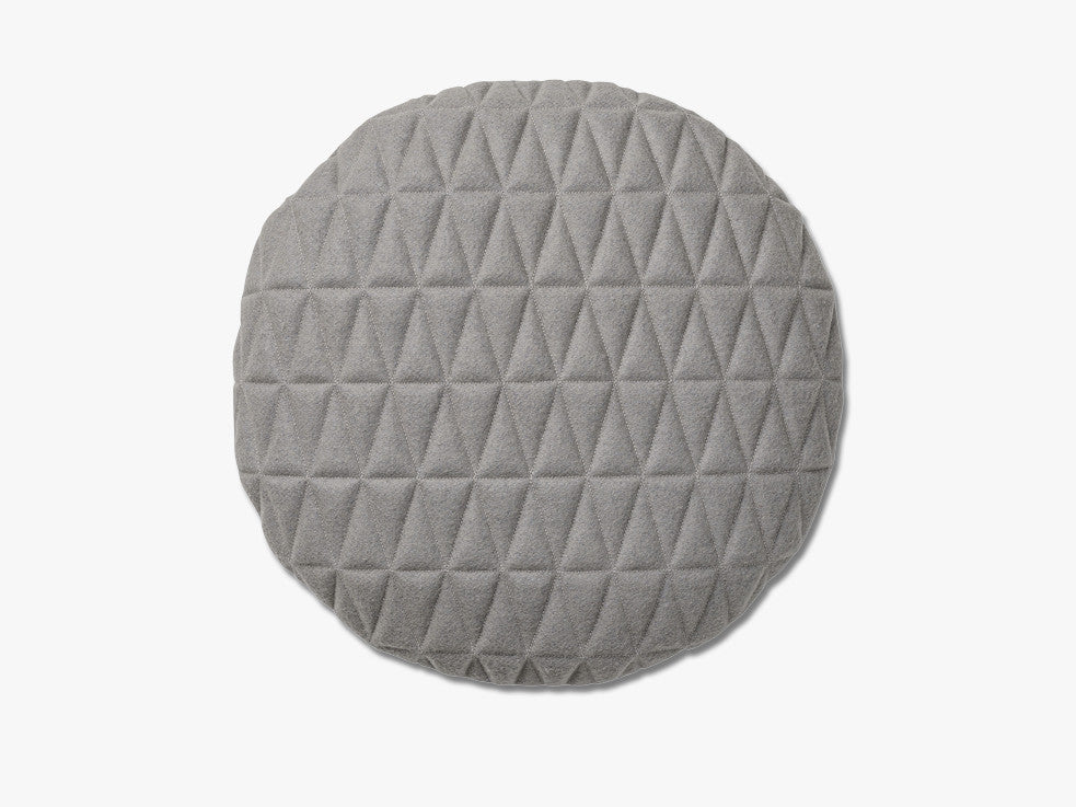 Cushion, Quilted, Light Grey fra Bloomingville