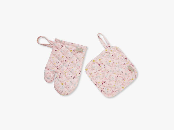 Kids Oven Glove and Pot Holder Play set, Fleur fra Cam Cam Copenhagen