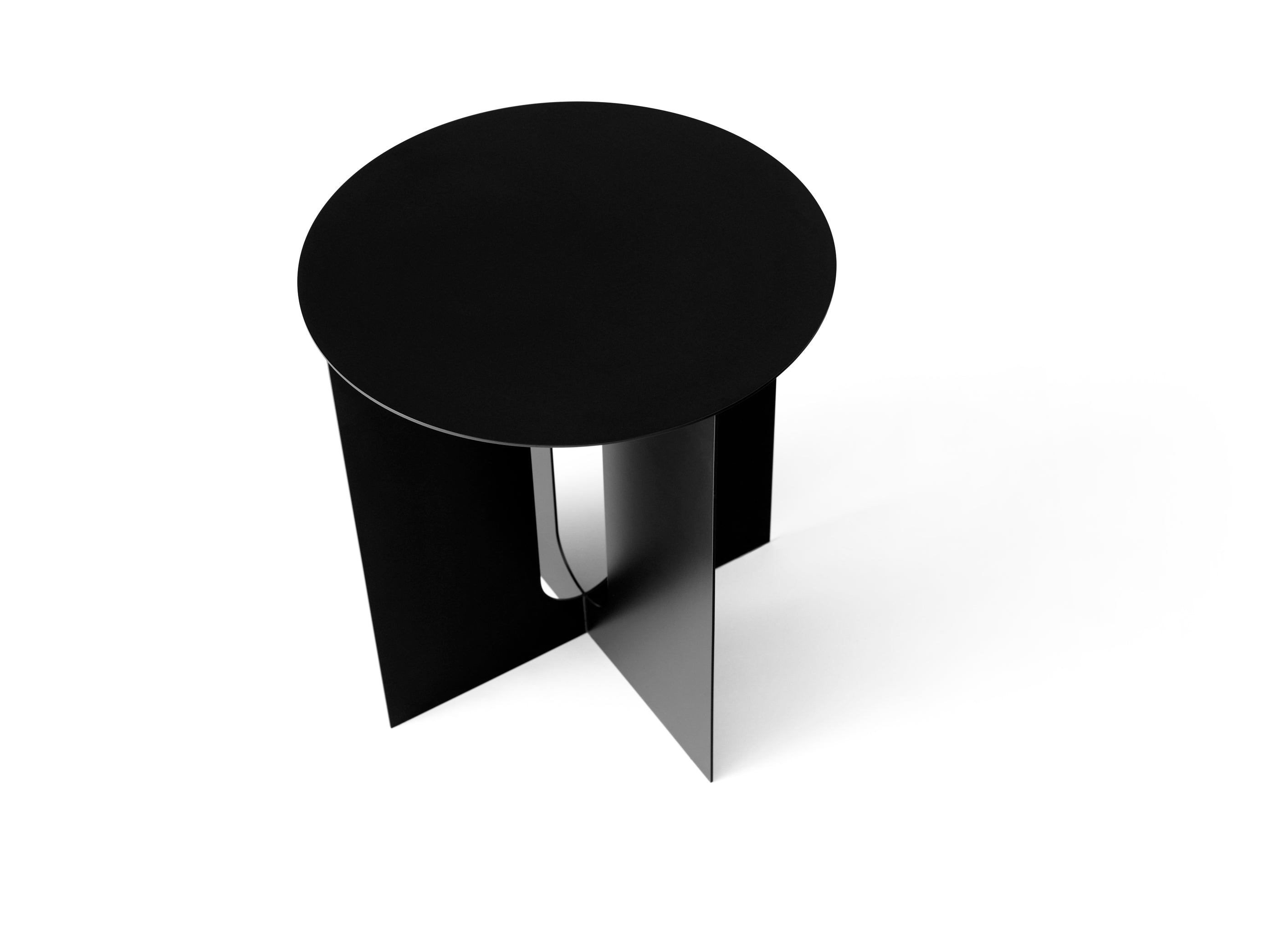 Androgyne Side Table Steel Base, Black fra Menu